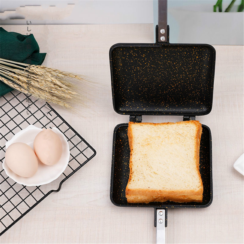 Non Stick Aluminum Frying Pan Sandwich Maker Bread Toast Breakfast Machine Waffle Pancake Baking Barbecue Oven Grill Gas Cooker