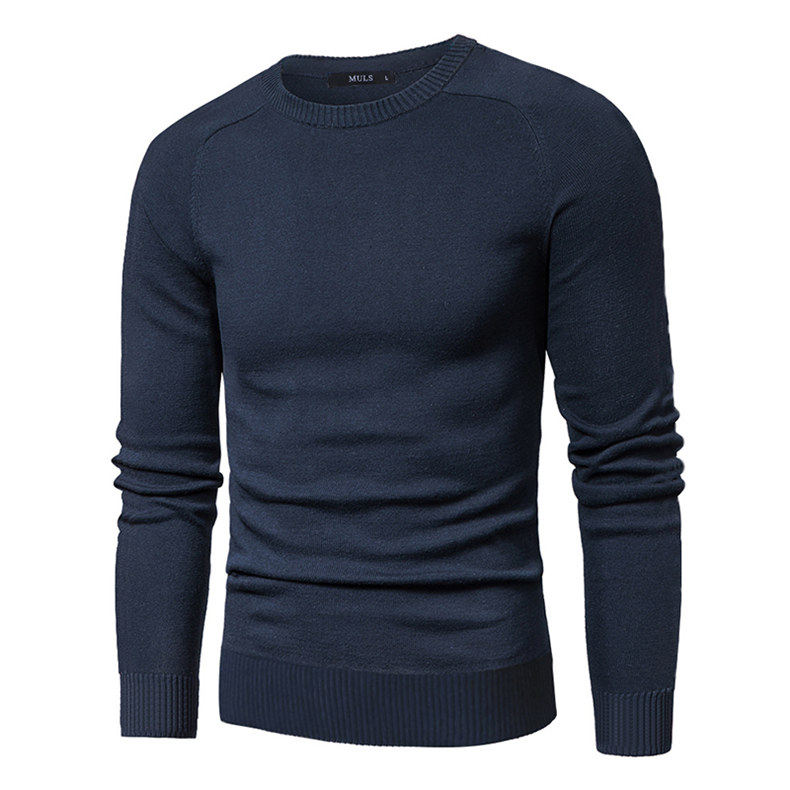 MuLS 2019 Sweater Pollovers Men Casual Cotton Knitted Sweater Jumper Pullover Round-Neck Knitwear Polo Jersey Men Plus Size 5XL 01