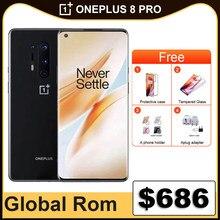 Global rom oneplus 8 pro 8pro 5g telefone móvel 6.78