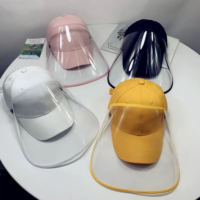 Children's Protective Cap Removable Baseball Cap Riding Outdoor Dustproof Cotton + PVC Baseball Cap Anti-fog Protective Cap