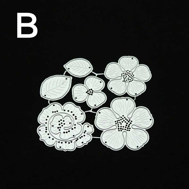 花leafframeカットは金属切削ダイス葉スクラップブックエンボス紙クラフトナイフ金型ブレードパンチステンシル金型