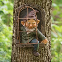Garden Decoration Ornament-Accessories Statue Gift Naughty Elves Resin White No Fairy