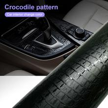 152*10cm Automotive Interior Stickers Car Sticker Wrap Film Simulation Crocodile Styling Leather Texture Decor Decals