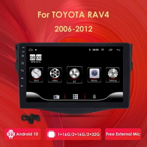 Android 10 Car Multimedia DVD Video Player For Toyota RAV4 Rav 4 2007 2008 2009 2010 2011 2012 With Radio Gps 2DIN BT