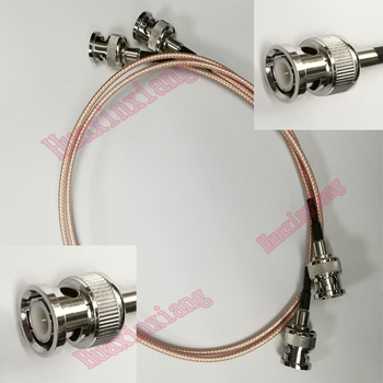 5 sztuk/partia BNC do BNC wtyk męski złącze RF koncentryczny przedłużacz kabla pigtailowego RG316 50ohm dla kamery CCTV