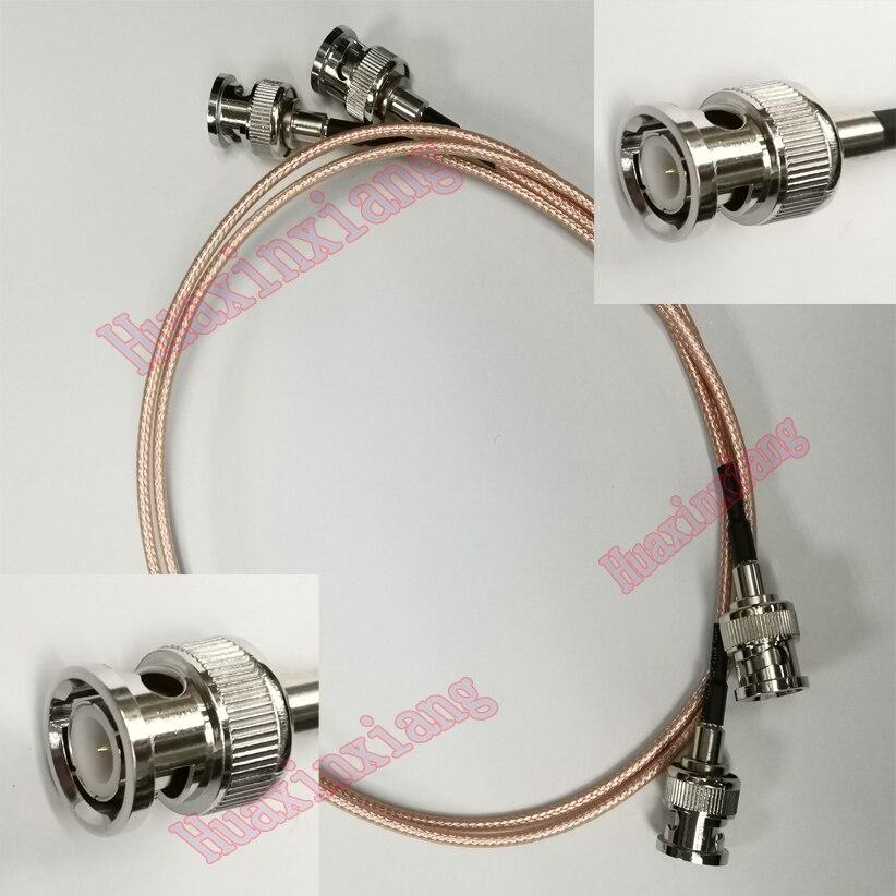 5 pièces/lot BNC à BNC mâle connecteur RF Coaxial Extension câble de queue de cochon RG316 50ohm pour caméra de vidéosurveillance