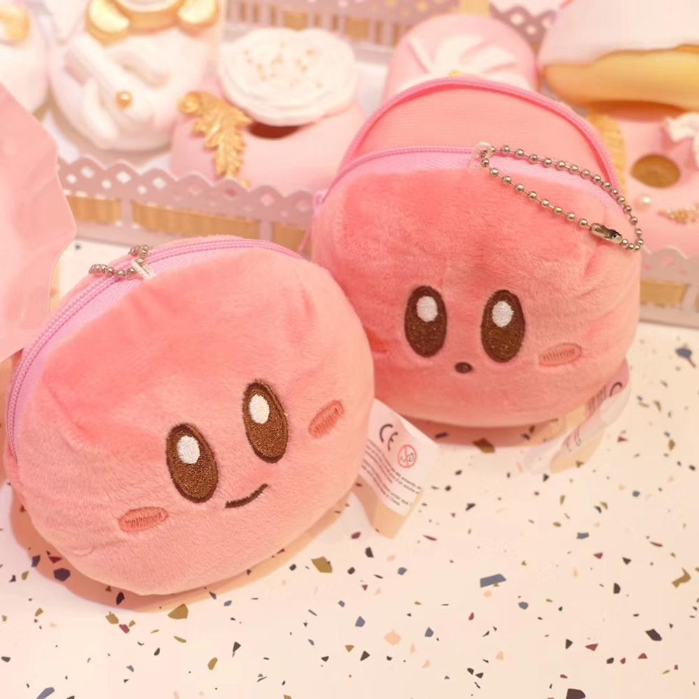 Kirby Figures Plush Doll Coin Purse Cosmetic Bag Star Kirby Ensky Figure Plush Coin Bag Pendant Toys