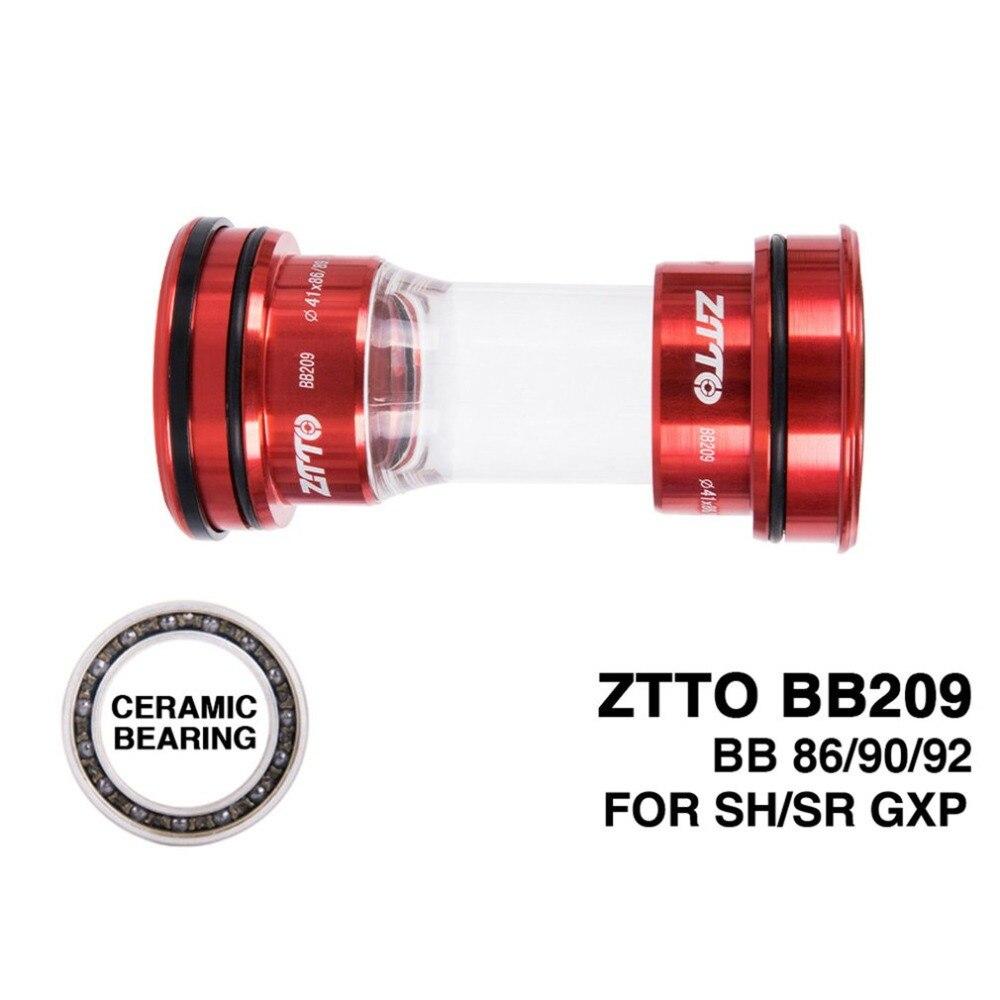 ZTTO Ceramic Bearing BB209 BB92 BB90 BB86 Press Fit Bottom Brackets For Road Mountain Bike 24mm Crankset BB GXP 22mm Chainset