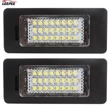 24 led estilo do carro placa número luz 6000k um par 3w fonte de luz para bmw