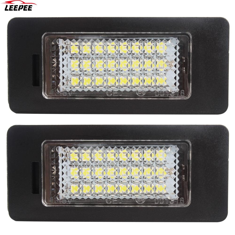 24 светодиодный автомобильный Стайлинг номерной знак светильник 6000K пара 3 Вт светильник источник света для BMW