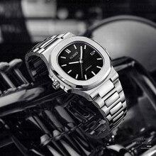Reloj de cuarzo japonés con hebilla de mariposa para hombre, pulsera de reloj masculina, resistente al agua, a la moda, venta al por mayor