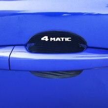 4Pcs car door bowl carbon fiber cloth decorative For Mercedes Benz AMG W210 GLC B200 W221 W212 W205 W211 C180 C200 accessories