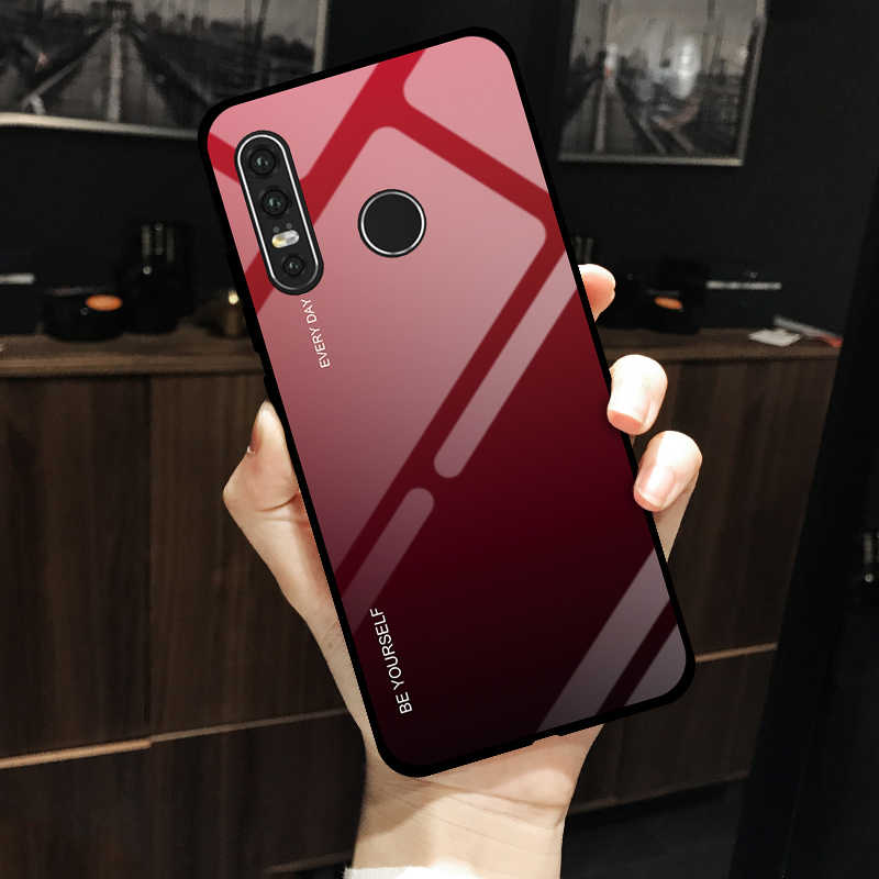 Gradient Tempered Glass Case For Huawei Mate 20 10 P30 P20 Lite Y9 P Smart 2019 Nova 4 3i Case Honor 9lite V20 note 10 8X max 8A