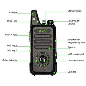 Image 3 - 2 pièces WLN KD C1 plus Mini talkie walkie UHF 400 470 MHz avec 16 canaux Radio bidirectionnelle FM émetteur récepteur KD C1 Plus