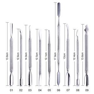 Image 5 - 1pcs Chameleon Rainbow Nail Cuticle Pusher Clipper Scissor Nipper Tweezer Picker Steel  Nail Art Tools