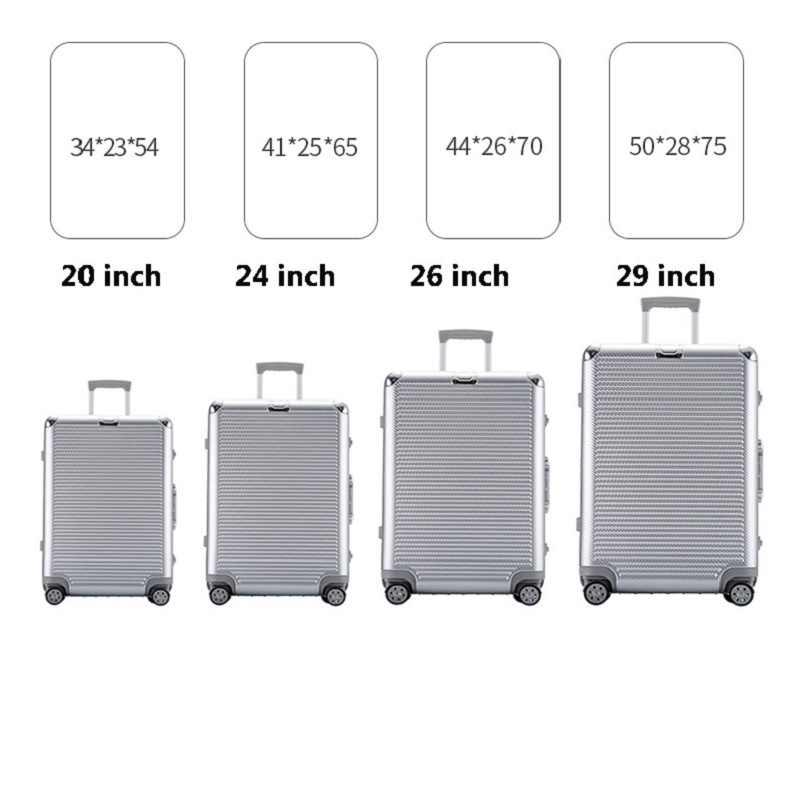 """Super moda nowa spinner aluminiowa rama hardside walizka podróżna na kole 26 """"torby podróżne bagaż na kółkach torba 20"""" 24"""""""