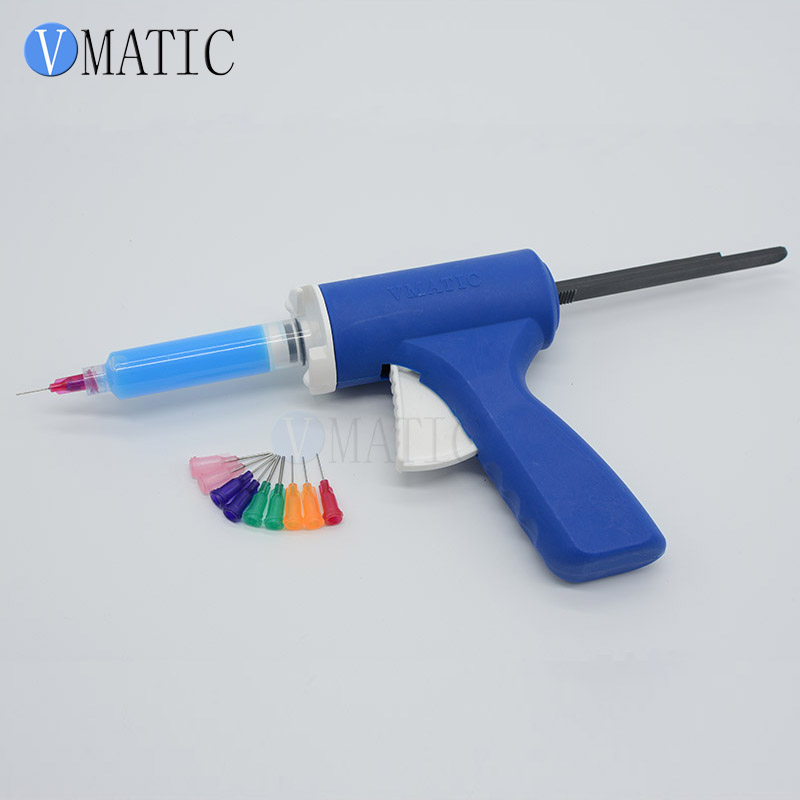 Free Shipping 5cc 5ml Plastic Flux Gun/ Soldering Flux Gun/ Soldering Gun/ Syringe Caulking Gun For Green Oil