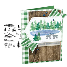 Jcarter Clear Stamps Mountain House Decoration Rubber Silicone Scrapbooking for Card Making Paper Sheet Craft New Stamp