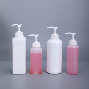 Image 1 - 500ML 1000ML Empty Square Plastic pump Bottles for Lotion Shampoo Alcohol Dispenser Food Grade 4PCS/lot
