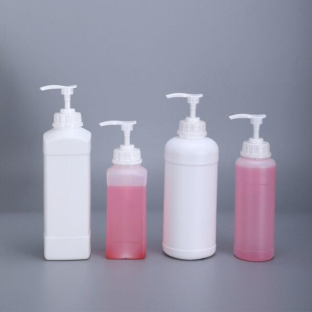 500ML 1000ML Empty Square Plastic pump Bottles for Lotion Shampoo Alcohol Dispenser Food Grade 4PCS/lot