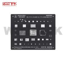 MEGA-IDEA черная высокоточная чип процессора IC стальная сетка для iphone 6s 6SP 7 7p 8 xs max 11 11PRO Оловянная сетка BGA Reballing