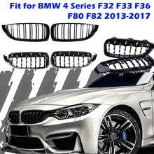 Передняя решетка радиатора, бампер, бриллиантовый гриль, подходит для BMW 4 серии F32 F33 F36 F80 F82 2013-2017, автомобильная сменная деталь