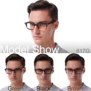 Image 3 - קלאסי משקפיים מסגרות אצטט גברים מרשם משקפיים רטרו קוצר ראייה משקפיים טלאי מעצב אופטי מסגרות משקפי 617g