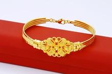 Gold-plated Fashion Vintage Bracelet Simple and generous temperament bracelet Send moms boutique Birthday gift Travel monument
