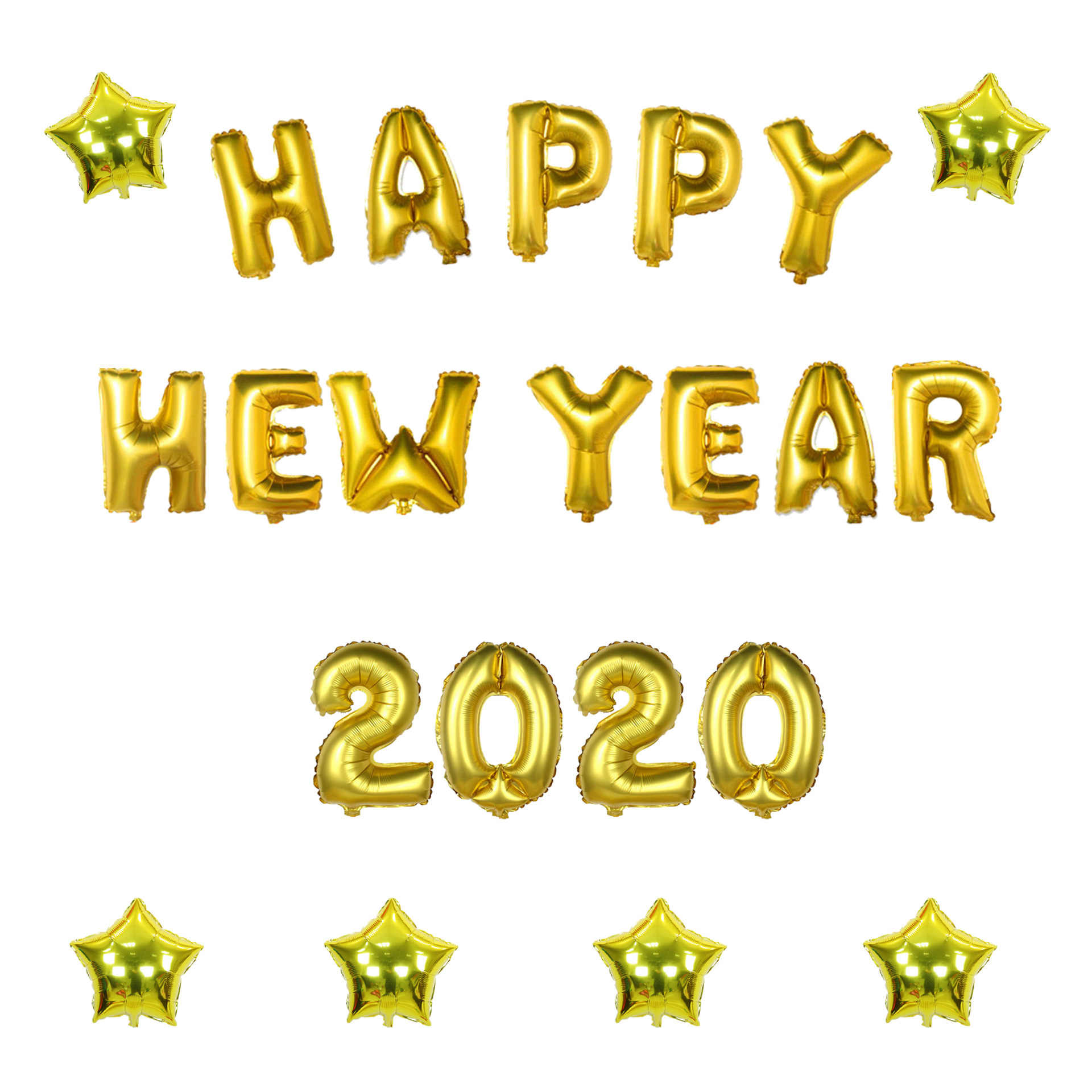 2020 Number Foil Balloon Black Gold Digit Helium Baloons Happy New Year Christmas Party Decor Globos DIY Home Ornaments Decor