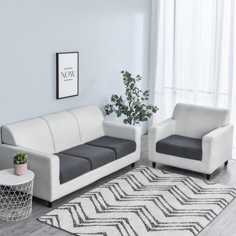 Meijuner Corn Velvet Sofa Cushion Cover Nordic Simple Solid Combination Sofa Cover All-inclusive Elastic Protector Seat Cover(China)