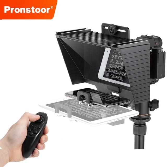 Teleprompter 12 Polegadas com Suporte para Ipad - Mini Tablet e Smartphones - Suporta Gravação em Câmeras DSLR e Smartphone 1