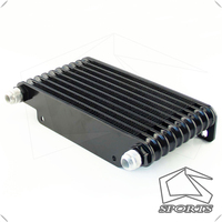 AN10 32mm Aluminum 10 Row Engine/Transmission Racing Oil Cooler Black|  -