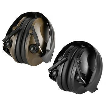 Тактические наушники TAC 6S с защитой от шума, гарнитура для тактической стрельбы, мягкие электронные наушники с подкладкой для спорта, охоты, занятий спортом на открытом воздухе