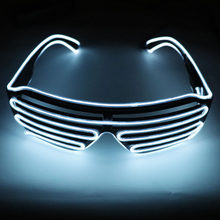 NEW Fashion 10 Colors Flashing EL Wire Led Glasses Luminous Party Decorative Lighting Classic Gift Bright Light Festival Gift(China)