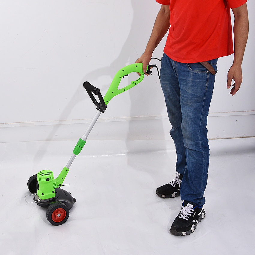 Tools : HKL-12-230 Portable Electric Lawn Mower Household Plug-in Lawn Mower Garden Grass Trimmer Grass Cutter Cutting Machine 220V 680W