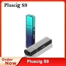 Pluscig S9 Charged Electronic Cigarette Vape Kits Box Continuous Smokable Compatibility with Brand Heating Stick vs Pluscig p9