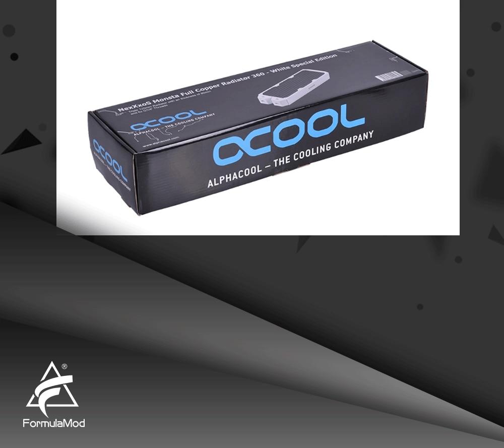 Full copper cold row Alphacool NexXxoS Monsta 360mm / 3 * 120mm - Athens White