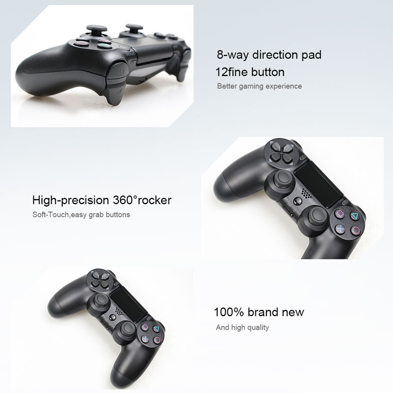 Bluetooth Gamepad and Wireless Game controller with Audio Function for PS4 and PS3 12