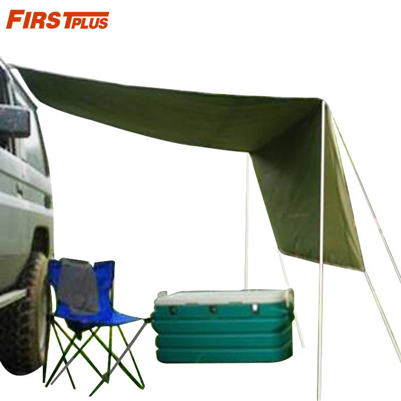 Car Side Awning Rooftop Pull Out Tent Shelter PU2000mm UV50+ Shade SUV Outdoor Camping Travel