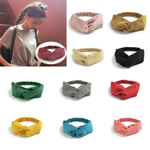 Korean Suede Retro Rabbit Ears Headbands Solid Color Metal Wire Scarf Cross Bow Hairband For Girls Hair Accessories Hair Ties