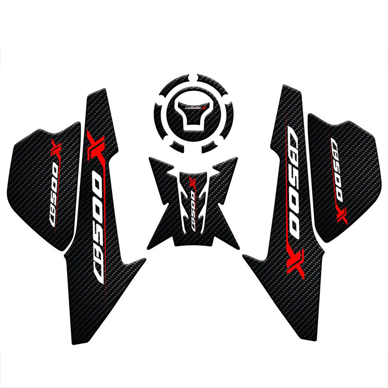 3D Motorcycle Anti Slip Tank Pad Sticker Pad Side Gas Knee Grip Protector For HONDA CB500X CB 500X CB 500 X 2019