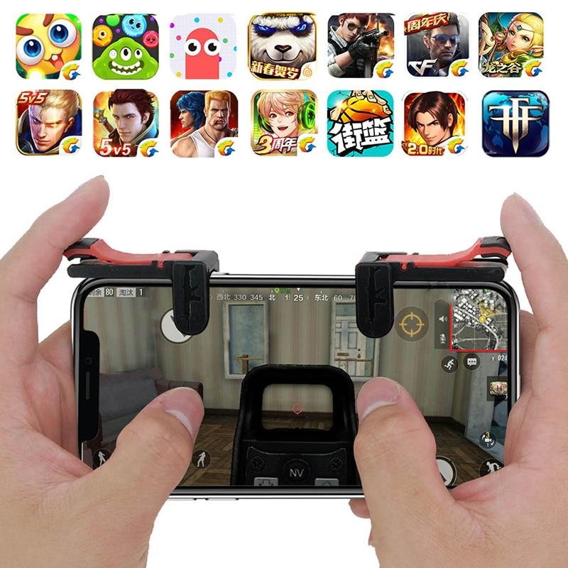 2PCS Gamepad Joystick For PUBG Joypad Trigger Fire Button Aim L1 R1 Key L1R1 Shooter Controller For PUBG Mobile Phone Game Pad