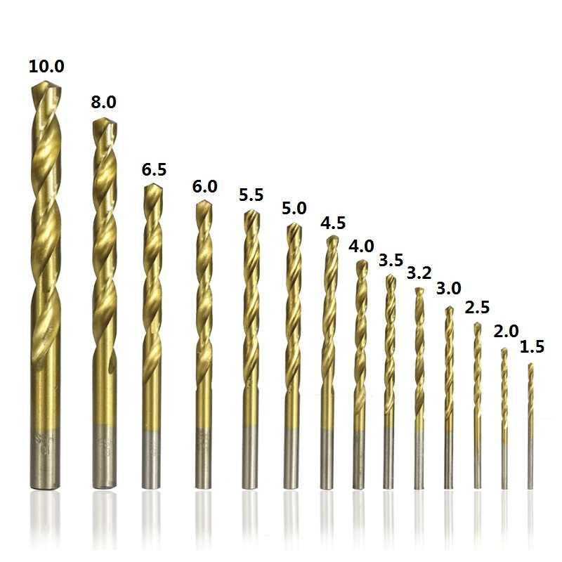 XCAN 99 قطع القطر من 1.5 مللي متر إلى 10 مللي متر التيتانيوم طلاء HSS P6M5 تويست مجموعة لقمة مثقاب