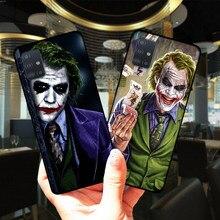 Mroczny rycerz Joker Karta miękki TPU silikonowy skrzynki pokrywa dla Samsung A51 A71 A01 A10 A11 A21S A30 A31 A40 A41 A50 A60 A70 A30S A50S