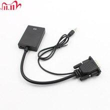 VGA זכר HDMI פלט 1080P HD + אודיו טלוויזיה AV HDTV וידאו כבל ממיר מתאם