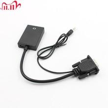 VGA mâle vers HDMI sortie 1080P HD + Audio TV AV HDTV câble vidéo convertisseur adaptateur