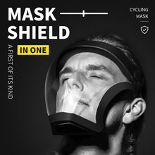 Lavable ciclismo máscara negro reutilizable cara máscara protectora PE la protección facial máscara de la boca para los hombres de las mujeres 3D claro extraíble