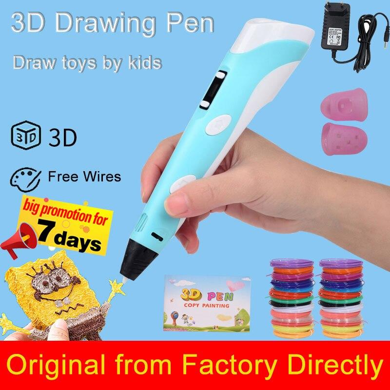 Новая 3d-ручка для рисования с ЖК-экраном, совместимая с пла-филаментом, безопасная 3d-ручка для детей, подарок на Рождество и день рождения