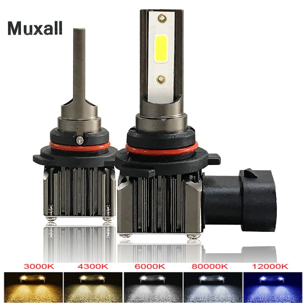 Muxall M2 H1 H4 H7 H11 LED Ice Bulbs for Car Headlights HB3 9005 HB4 9006 LED H8 Fog Lamp 6000K Motorcyle Lamps H4 LED Bulbs image