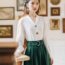Новая модная женская одежда, осенняя и зимняя рубашка+ юбка, 2 предмета, наряды для женщин